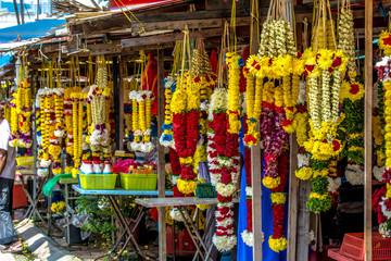 Foto op Aluminium Zuid-Amerika land Flower garlands for Thaipusam festival in Batu Caves temple