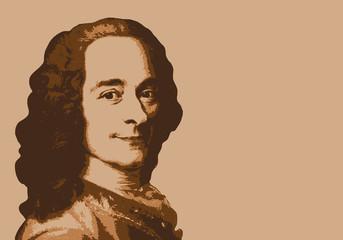 Voltaire - écrivain - portrait - personnage célèbre - littérature - personnage - livre - philosophe