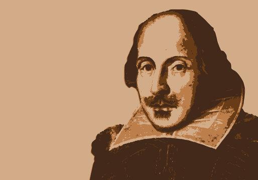 Shakespeare - écrivain - portrait - personnage célèbre - théâtre - littérature - personnage - poète