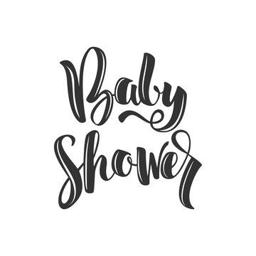 vector inscription Baby Shower on white background