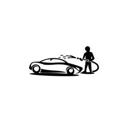 minimal Logo car wash vector illustration