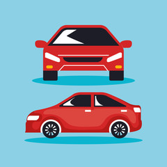 group of cars sedan icons vector illustration design