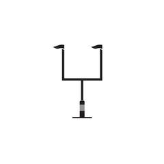American football goal post vector icon