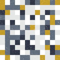 Squares mosaic geometric vector seamless pattern.