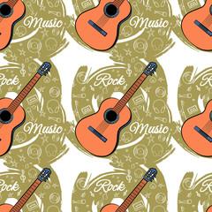 Pattern seamless Guitar-03