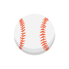 Vector cartoon colorful baseball ball isolated illustration.