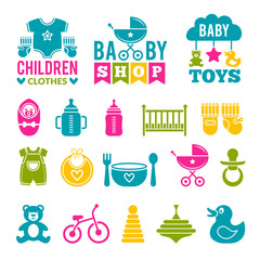 set of children icons