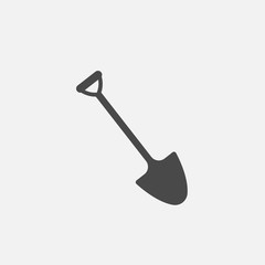 shovel digging tool vector icon