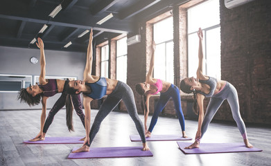 Group yoga training Wall mural