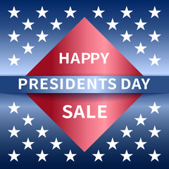 Happy Presidents Day Sale banner.