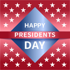 Happy Presidents Day banner.