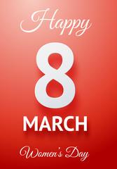 Happy women's day poster.
