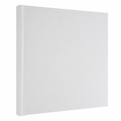 White book isolated on white, thin paper cover