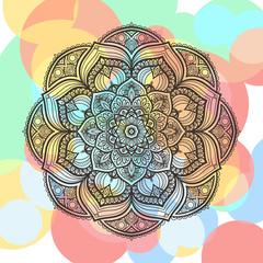 Flower Mandala. Vintage round pattern. Oriental image, vector illustration
