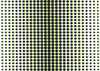Abstract background with black and green dots, pop art style. Vector illustration