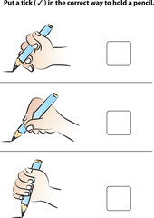 the correct way to hold a pencil