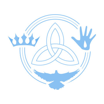 Vector illustration for Christian community: Holy Trinity.