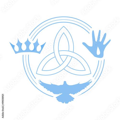 Vector illustration for Christian community: Holy Trinity