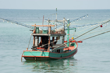 Fishing boat for squids