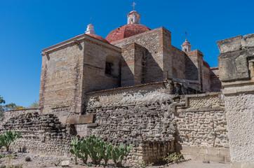 Church of Saint Paul in Mitla, Oaxaca, Mexico.