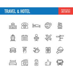 Travel Hotel Line Icon