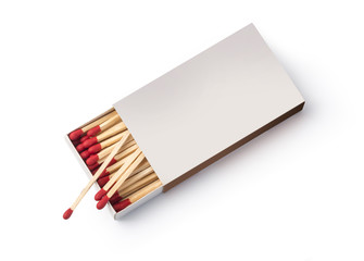 Box of matches, isolated