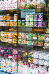 Display of a candy shop in Bruges, Belgium