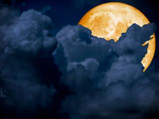 super blue blood moon back on cloud night sky