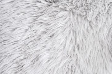 Sheepskin rug background. Wool texture. Close up sheep fur