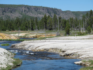 Geologocal Features of Yellowstone National Park, Wyoming