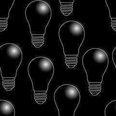 Seamless pattern. The bulbs do not light