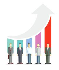 Geschäftliche Karriere, Konkurrenz Symbolisch Illustration