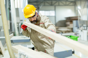 Senior man in factory