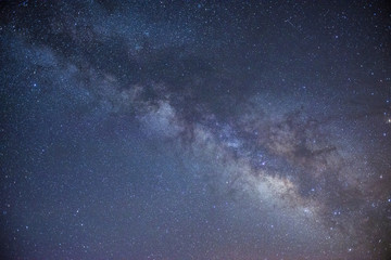 Low angle majestic view of milky way