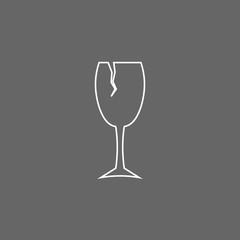 Broken glass line icon