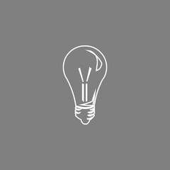 Light bulb vector line icon