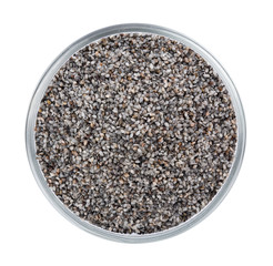 black sesame scrub seed isolated on white background