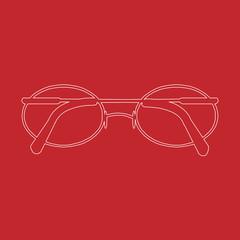 Vector glasses line Icon