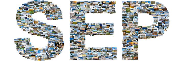 September made of travel photos