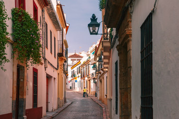 The street of Cordoba in the sunny day, Cordoba, Andalusia, Spain