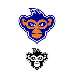 monkey and gorilla logo vector illustrations object