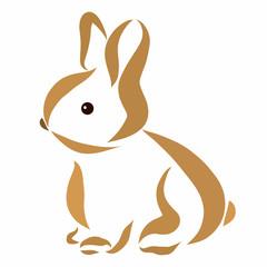 Cute little rabbit, gentle pattern