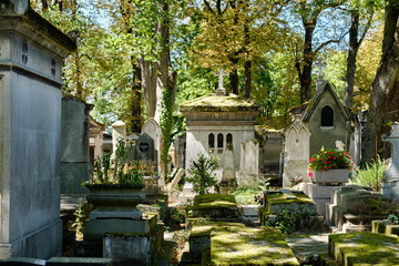 Printed kitchen splashbacks Cemetery Pere Lachaise cemetery in Paris