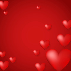 Red love background for Valentine's Day vector