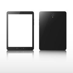 Realistic tablet. Black tablet.