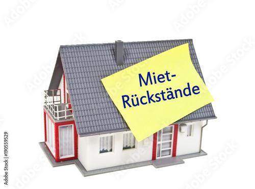 Haus Mit Mietruckstande Mietruckstand Mietschulden Stockfotos Und