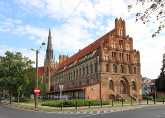 The medieval town hall in Chojna, Poland, a masterpiece of secular Gothic architecture