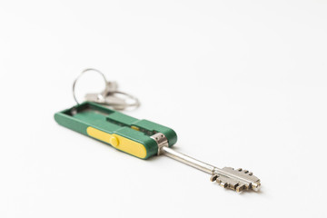 security key on white background