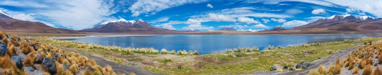 Panoramic view of Lake Hedionda , Bolivia.