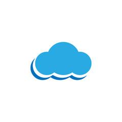 Clean blue cloud template vector